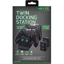 Venom Twin Docking Station da XBOX One - Base di Ricarica per 2 XBOX One Controller - 2 batterie ricaricabili incluse
