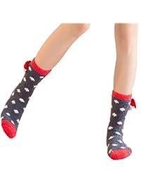 Sylar Navidad Calcetines Mujer Termicos Barato Grueso Suave Casual Más Terciopelo Lindo Animal Calcetines Cómodos Caliente