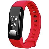 Pulsera Actividad, Fitness Tracker Pulsómetros/ Contador de Calorias/Monitor de Sueño/Contador de Pasos Pulsera Actividad deportivo Cronómetro tiempo con alarma para SmartPhones iPhone y Android