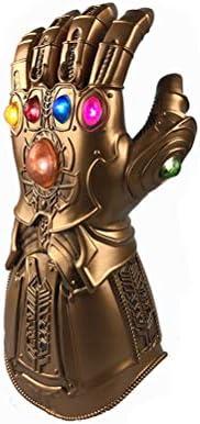Yaoguan Avengers Infinity War Thanos Infinity Gauntlet Gants en PVC de lumière LED pour Halloween Props | Qualité Fine