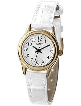 Limit 6981.35 Analoge Damen-Armbanduhr mit weißem Kunststoffarmband, Weiß