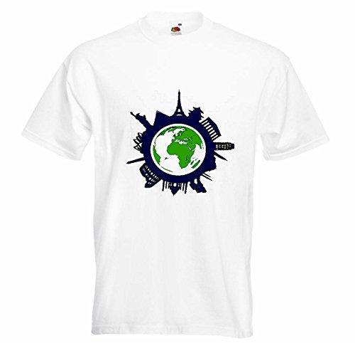 """Herren T-Shirt""""Motiv-300681""""Größe""""2XL""""Farbe""""Weiss""""Druck"""""""