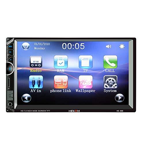 ZXZXZX Auto Spieler Auto Spieler Mp5,7-Zoll-HD-Auto MP5-Player-Handy Bluetooth-Freisprecheinrichtung Dual-Barren-MP3-Kartenmaschine