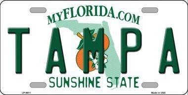 Smart Blonde LP-6011 Tampa Florida Novelty Metal License Plate