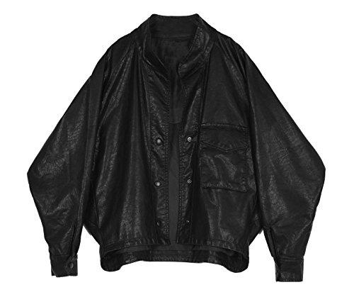 Winter Moderne bat Hülse Position Sensing in einem losen kurz, S, schwarzes Leder Kleidung (Leder Holden)