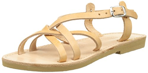 THELUTO Valentine, Sandales Bout Ouvert Fille Beige (Naturel)
