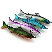 uu19ee Multi-Secciones Pesca Señuelos Spinner Cebo Carpa Pesca Tackle Color Aleatorio