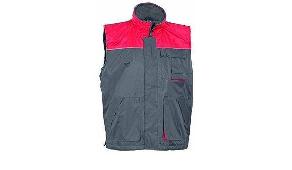 Kälteschutzweste Kälteschutz Herrenweste Weste  Handytasche rot grau Größe XL