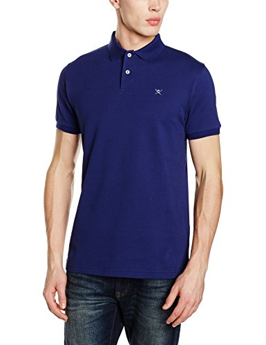 Hackett Clothing Tailored Logo, Polo Uomo, Blu (Blue/grey), M(UK)