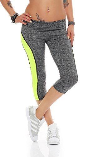 Fashion Design - Legging de sport - Femme Gris Gris EG7-2 gelb