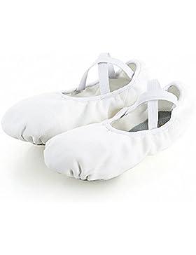 s.lemon Durable elástico suave lona ballet zapatos de baile para niños niñas mujeres hombres en negro blanco rosa...