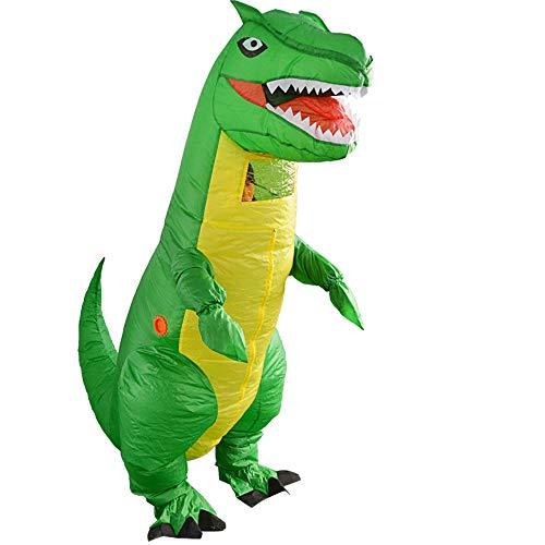 Zhanghaidong Aufblasbare Blow Up Erwachsene Dinosaurier Halloween Horror Party Kostüm Party Outfit Anzug Grüne Dinosaurier Tyrannosaurus Tyrannosaurus Cartoon Puppe ()
