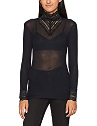 ONLY Women's Onlsky L/S Lace High-Neck Blouse Noos Long Sleeve Top