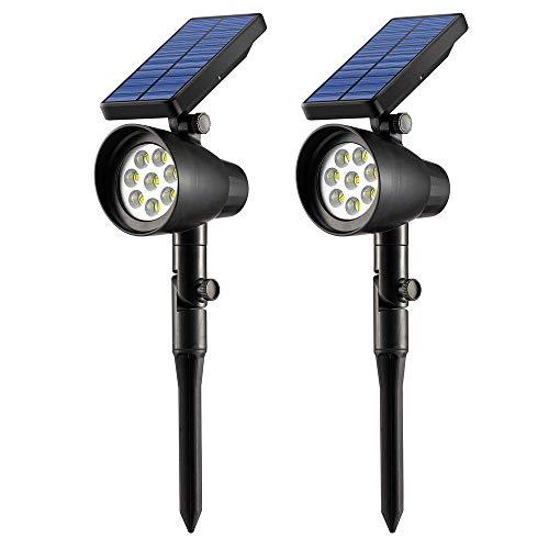 Ubitree Luci Solari Giardino esterno 8 LEDs Wireless Luce Solare Impermeabile Lampade Angolo Regolabile Solari di Esterni per Giardino, Patio, Ponte, Vialetto, Terrazzino, Casa