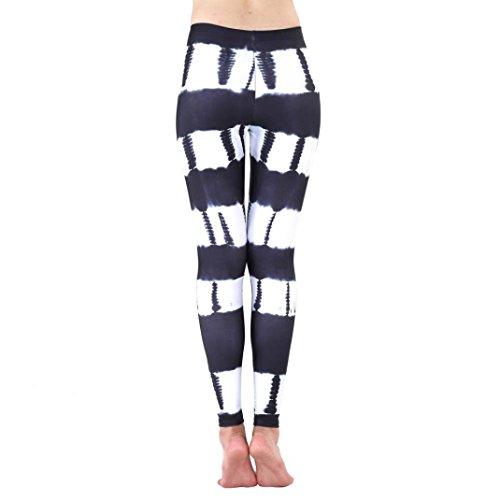 Yoga Hosen Damen, DoraMe Frauen Fitness Bewegung Athletischen Hosen Training Tree Drucken Yoga Leggings (M, 2-Schwarz) (Stretch-stoff-schuhe Schwarz)