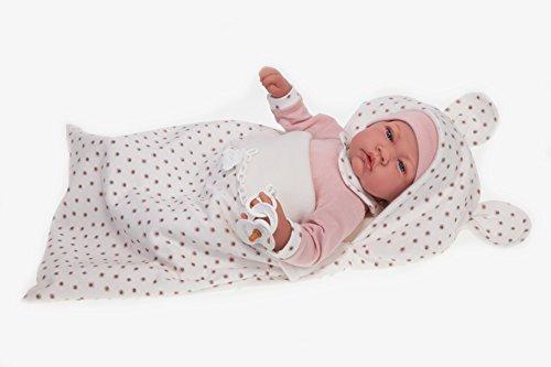 ANTONIO JUAN- Nacida Saco Bambola Realistica, Colore Rosa, AJ3372