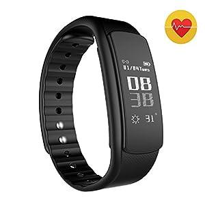 Huizhisen HZS Bluetooth Smart Watch Universal, Waterproof Smart Sports Wrist Watch Bluetooth 4.0 Wireless Fitness Pedometer Tracker Bluetooth Sports Bracelet For iOS and Android Smart Phones