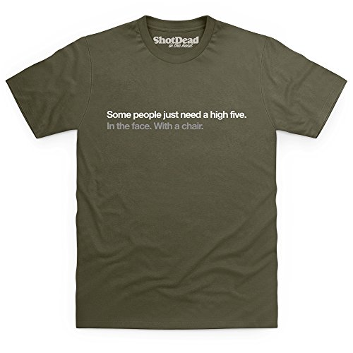 High Five T-Shirt, Herren Olivgrn