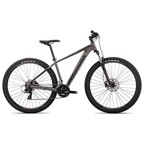 ORBEA MX 60 M Fahrrad 29 Zoll 21 Gang Aluminium Rad Mountain Bike MTB Shimano Herren Damen, J20617, Farbe Silber Schwarz -
