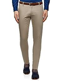 oodji Ultra Hombre Pantalones de Algodón con Decoración Pequeña ... dac42924d91e