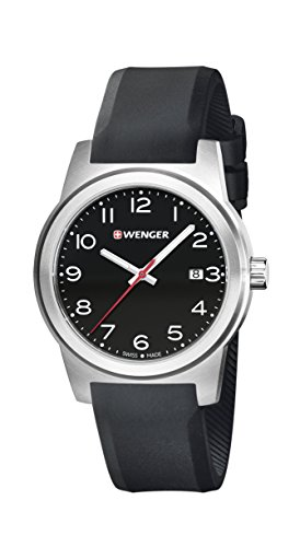 WENGER - 01.0441.144 - Montre Homme - Quartz - Analogique - Bracelet Silicone noir