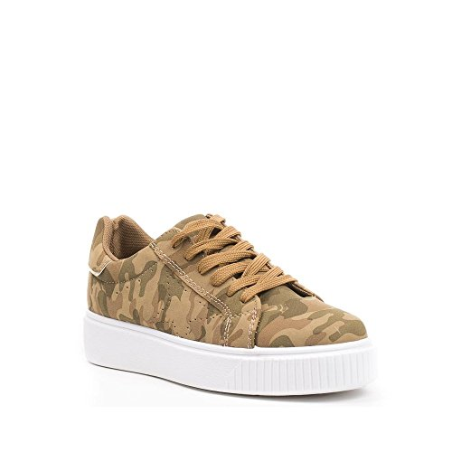 Ideal Shoes ,  Sneaker donna Marrone