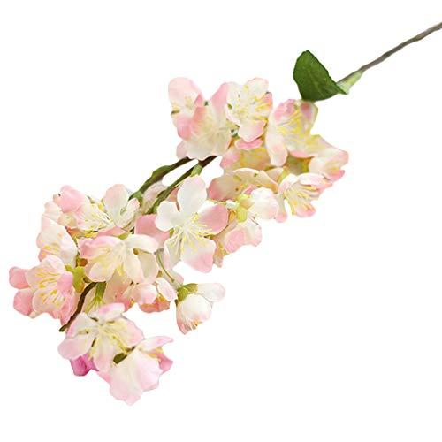 Luwu-Store Hochzeit Home Party Decor Supplies Gefälschte Blumen Künstliche Blumen Kirschblüten Bouquet Schöne Lebendige Japanische Sakura 52,5 cm
