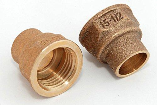 Übergangsmuffen i/i 15mm - 1/2' / 4270g, Rotguss (VE 2 Stk) Rotgussfitting red brass gunmetal, Klimaanlage Klimatechnik Wasser Heizung Gas Solar heating refrigerant -