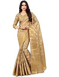 Mimosa By Kupinda Women's Art Silk Saree Kanjivaram Style Color : Light Brown (4172-177-SD-CHIKU)