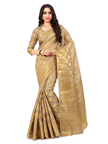 Mimosa By Kupinda Women's Art Silk saree Kanjivaram Style Color : Light...