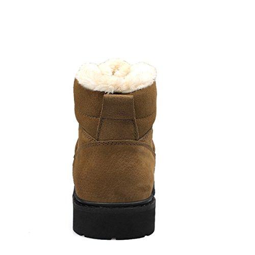 Inverno Scarpe Calde Uomini Aiuto Alto Testa Tonda Stivali Martin Khaki