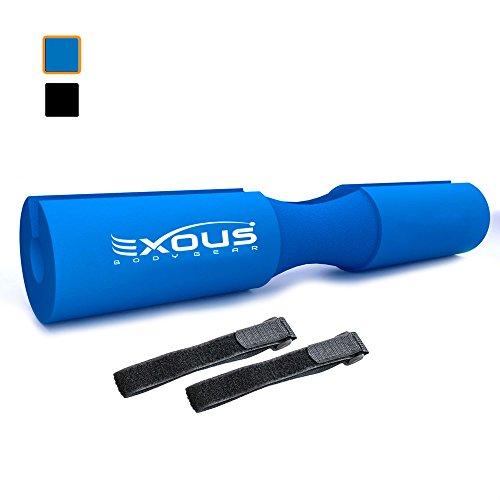 EXOUS BODYGEAR Barbell Pad Squat Bar Dick Schaumstoff Kissen-Displayschutzfolie für Nacken und Schultern-Passt Olympischen Gewichtheben Bar-Lässt für rutschfeste Passform, Cool Blue (Power Fitness-gear Rack)