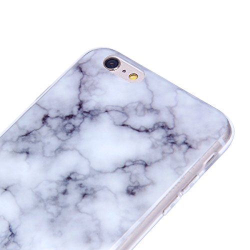 iPhone 6S Plus Hülle,iPhone 6 Plus Hülle,iPhone 6S Plus/6 Plus Silikon Hülle Tasche Handyhülle,SainCat Flamingos Flamingos Muster Ultra dünne Silikon Hülle Schutzhülle Durchsichtig Hadytasche Stoßfest Weißer Rauch Marmor