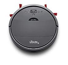 Vileda VR 201 PetPro 160884, Robot Aspirapolvere per Peli Tappeti, Vano Raccogli-Sporco XL con Spazzola per Peli di Animali, Doppio Filtro, Modalità Silenziosa, Grigio Scuro