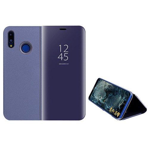 Custodia Espejo Chapado Transparente View Stand Función Flip Funda para Xiaomi Mi MAX 3 (Púrpura)
