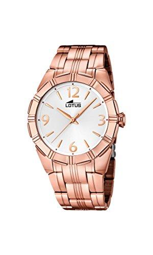 095879533617 Lotus Reloj de cuarzo para mujer con pulsera de plata esfera analógica  pantalla y bañado en oro rosa de acero inoxidable 15986 1