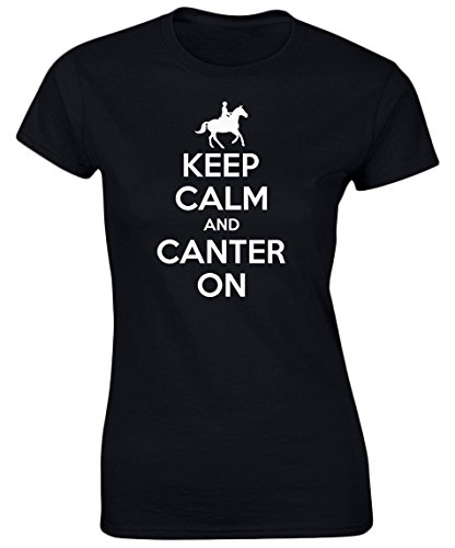 swagwear Keep Calm Canter On Funny Riding Equestrian Womens T-Shirt 8 Colours