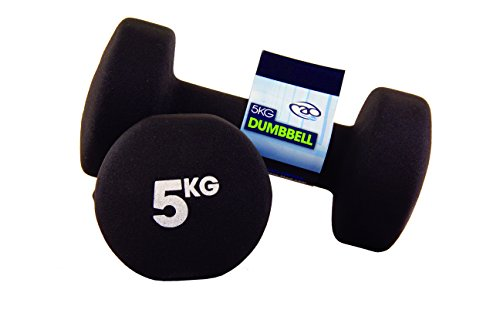 Yoga-Mad Fitness Mad Neo Dumbbell Pair 2 x 5Kg , Black