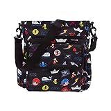Kiwisac City Piratas Bolso de Silla de Paseo Unisex con un Diseño Basado en Piratas/Bolso para Carro Bebé para Pañales con Bandolera Ajustable | Color Negro | 36x12x34 cm