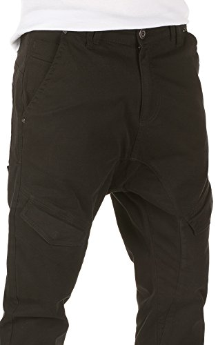 Yazubi Homme Chino Pantalon Cargo Draven black (3000)