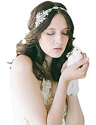 TININNA Bandeau de Cheveux Serre Tete Accessoire en Alliage Avec Diamond Pearl pour Fille Femme Mariée Wedding Headband