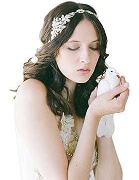[Patrocinado]TININNA Diadema de Flores,Exclusivo damas griegas encargo dulce elegante de la joyería del pelo del diamante Headwrap...
