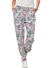 Hailys Damen Hose Sommerhose Freizeithose Print Comfort Fit Strandhose f2c54b408a
