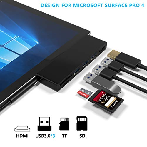 Microsoft Surface Pro 4 USB 3 0 Hub Docking Station, Cateck Dual USB  Kartenleser, 3 Port USD 3 0 (5Gps) + Mini DP zu HDMI + SD/TF(Micro SD)
