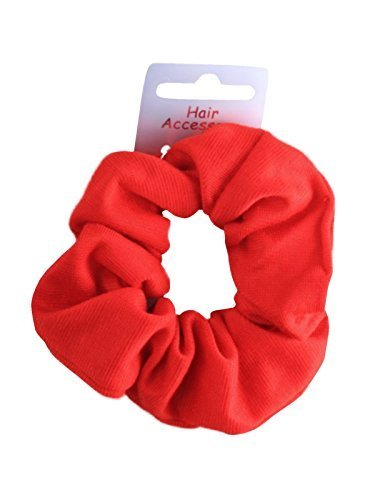 red-soft-jersey-fabric-hair-scrunchie-bobble-elastic-hair-band-by-pritties-accessories