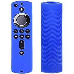 only y Étuis de Télécommand en Silicone Amazon Fire TV, Coque de Protection Télécommande Housse Anti-Chute pour Amazon Fire TV Stick 4K Télécommande (Bleu)
