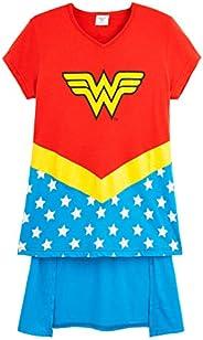 DC Comics Wonder Woman Camisetas Niña, Ropa para Niñas 100% Algodon, Camiseta Niña Manga Corta Mujer Maravilla