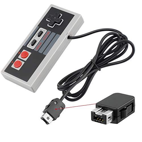 Ponkor Manette pour NES Nintendo Classic Mini Controller Contrôleur filaire  pour système de divertissement Nintendo NES Classic Edition avec Câble