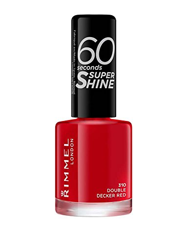 Rimmel Queen Of Tarts, 60 Seconds Super Shine Nail Polish, Red, 8 ml