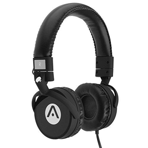 Audiomate A7Stereo Bass Kopfhörer mit Mikrofon, Schwarz (Jarv Kopfhörer)